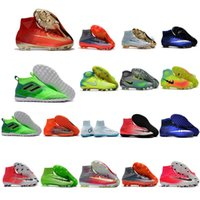 Wholesale Tf Soccer Shoes - 2018 kid indoor soccer shoes IC TF mercurial superfly kids football boots cr7 high top men soccer cleats futsal boys magista obra ace 17 new
