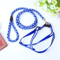 Barato Cão Leash Para Grande-2016 Leash New Dog Nylon Dog Reflective Harness pequena corda Grande Dog Teddy Golden Retriever Chest Corda Harness WA0821