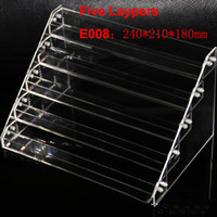 Wholesale Wholesale Acrylic Stands For Display - Acrylic ecigs display showcase clear stand show shelf holder rack for 10ml 20ml 30ml 50ml e liquid eliquid e juice needle bottle Mods