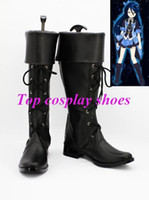 Wholesale River Accessories - Wholesale-Freeshipping AKB0048 Cosplay River Black Cosplay Boots shoes 05006 for Halloween Christmas festival