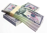 Wholesale Paper Holiday Crafts - 100PCS USA $50 Dollars Movie Props Money Bank Staff Training Learning Banknotes Arts Collectible Gifts Home Holiday Decoration Crafts