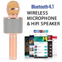 Wholesale tablet q9 for sale - Group buy WS Wireless Speaker Microphone Portable Karaoke Hifi Bluetooth Player For iphone s ipad Samsung Tablets PC better than Q7 Q9