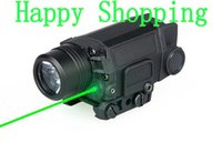 Wholesale green tactical light - New Arrival Tactical X5L LED Flashlight Torch Light With Green Laser For Helmet outdoors