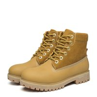 X13 Retro estilo britânico Leather Brogues Oxfords Short Boot Mulheres Sapatos Round Toe Casual Lady Botas Genuine Leather Yellow Martin Men Boots