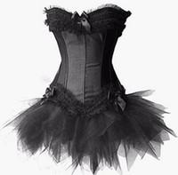 Wholesale Sexy Black Bridal Lingerie - Hot Sexy Women's Corset Bustier Tops Bra Lace Up Plus Size Boned Waist Bridal Bustier Lingerie girdles Women Clothing
