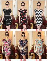 Wholesale Dress Children Fat - Foreign trade women clothing.Europe the fat MM big yards dress round collar loose dress summer dress