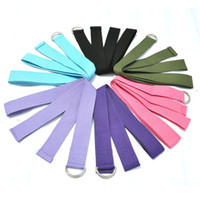 Wholesale Quality Fitness Equipment - High Quality Folding Elastic Yoga Stretching Band Cotton Gym Pull Strap Yoga Supply Fitness Equipment Easy to Carry