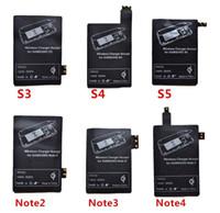 s3 qi pad pad récepteur achat en gros de-Adaptateur de charge récepteur récepteur sans fil Qi chargeur récepteur Pad Coil Pour Samsung Galaxy S3 S4 S5 Note 2 3 4 Micro USB mobile