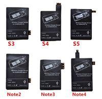 qi receptor micro usb venda por atacado-Qi Carregador Receptor Receptor Recarregador Receptor de Carregamento Sem Fio Pad Bobina Para Samsung Galaxy S3 S4 S5 Nota 2 3 4 Micro USB móvel