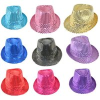 Wholesale Cool Girl Costumes - Kid Costume Hat,Cool New Fashion Black Dance Hat Glitter Jazz Girls Boys Cap For Party