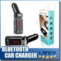 Wholesale Mp4 For Sale - Hot Sale! BC06 bluetooth car charger BT car charger MP3 BC06 mp3 MP4 player mini dual port AUX FM transmitter