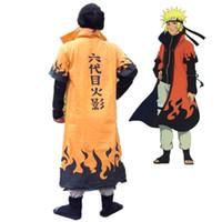 Wholesale naruto cosplay online - Anime Naruto Cosplay Costumes Six Yondaime Hokage Namikaze Minato Cloak Hatake Kakashi Naruto Cape Outfit onesies