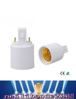 Wholesale Light Bulbs Cfl Free Shipping - NEW G23 to E27 Lamp Holder Converter for LED Halogen CFL Light Bulb Lamp Adapter G23 to E27 FREE SHIPPING MYY