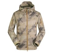 Wholesale Ruins Camouflage - 2016 New Men Ruins Pattern Camouflage Hunting Clothing Windproof Hood Jacket & Pants Set Outdoor Sports Clothing