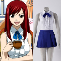 All'ingrosso-JP Anime Fairy Tail Cosplay qualunque abito Fairy Tail Guild Erza Scarlet Cosplay Costumi Vendita