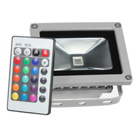 Wholesale Led Flood Lighting Prices - Wholesale- Lowest Price 10W RGB LED Outdoor Waterproof Flood Light Wash Floodlight Spotlight Lighting With Remote Controller AC85-265V