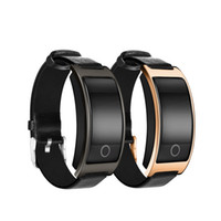 CK11S Fitness Sport Smart Bracelet Pressão sanguínea Heart Rate Watch Mensagem Leather LED Wristband Universal Waterproof Band