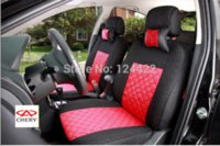 Wholesale Free Shipping Chery Cars - Free shipping high Quality Universal car seat for Chery QQ A1 A3 A5 Tiggo Cowin Fulwin car-detector covers cushion 5 seats set