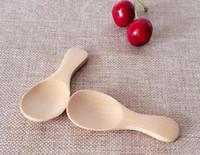 Wholesale Dinnerware Wood - Wooden Tea Spoon Creative Tableware Kusunoki Baby Milk Spoon Wood Dinnerware Coffee Spoon