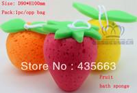 Wholesale Stocking For Body - Wholesale-STOCK!2013 new arrival .multifunction bath sponge.fruit sponge. wash sponge.gift for children.pack 1pc opp bag . Free shipping .