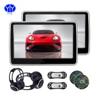 Wholesale Screen Car Headrest Dvd Player - 10.1 Inch 1024*600 TFT LCD Resistance Touch Screen Car Headrest Monitor and DVD Player USB SD IR FM Headphone Game