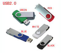 Wholesale Flash Drive Gb - 5 Piece Metal Rotatable Capacity Enough U Disk USB2.0 Flash Disk Metal Rotatable USB Flash Drives