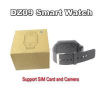 gsm tela livre venda por atacado-Mais barato smart watch bluetooth dz09 para ios android tela de toque do telefone inteligente com cartão sim gsm smartwatch câmera frete grátis