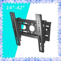 "Wholesale Wall Mount 19 - Monitor Mounting Brackets Slim LED LCD Tilt TV Wall Mount Bracket 14 17 19 20 24 26 27 32 37 40 42"" Inch 01"