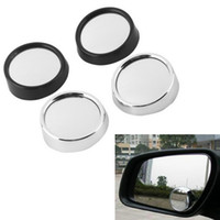 Wholesale Auto Car Rearview Mirror Cover - Car Rearview Mirrors Universal Blind Spot Rear View Mirror Exterior Auto Accessories Mirror Covers Wide Angle Round Convex
