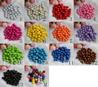 Wholesale Solid Color Plastic Beads - Assorted Color Solid Opaque Round Smooth Acrylic Spacer Loose Beads Charm 8mm
