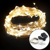 Wholesale 24v high power led - High Quality Waterproof 100LED 300LED 500LED Copper Wire LED String Lights with 12V 24V DC Power Adapter Wedding Party Christmas Light