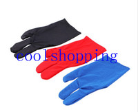 Durable Nylon 3-Finger-Handschuh für Billiard Pool Snooker Queue Shooter