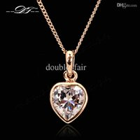 Wholesale Wholesale Chic Style Jewelry - Unique Chic Imitation Crystal Necklaces & Pendants Fashion Brand Imitation Gemston OL Style Jewelry For Women Chains Accessiories DFN130
