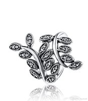 Wholesale Silver Branch Jewelry - Free Shipping 4 Size 925 Sterling Silver Branch Zircon Ring European Fine Jewelry Rings For Women Party Wedding Anniversary Gift