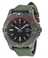 Wholesale 48mm Mens Watches - Luxury Wristwatch Fashion Watch Avenger Blackbird Automatic Black Dial Green Canvas Strap Men's Watch 48mm Mens Watch Watches