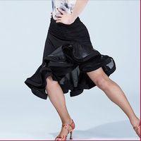 Wholesale Latin Sexy Ruffle Skirts - 2017 Ballroom irregular Women's Sexy Latin dance bust skirt for female girl lady dancer, costume performance wear training dress
