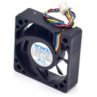 Wholesale Computer Fan Temperature - Wholesale- 5cm4 line temperature control 0.2A 12V car audio cooling fan G5015M12D1+6