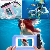 Wholesale underwater case for samsung galaxy s6 for sale – best For iphone s7 Universal Clear Waterproof Pouch Case Water Proof Bag Underwater Cover For iPhone6 plus Samsung Galaxy S6 Note V SW