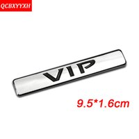 Wholesale Toyota Body Stickers - Car-Styling Chrome Sliver Gold Black Metal 3D VIP Logo Decal Sticker Emblem Auto Accessories For Nissan Qashqai Honda Toyota BMW Audi