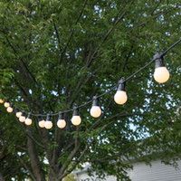 frosted globe bulbs großhandel-10M 20 LED Globe Glühbirne String Light Clear / Milky Glühbirnen Connectable Frosted Glühbirne String Light Party Weihnachten Fairy Light EU-Stecker Warmweiß