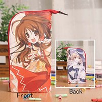 Wholesale Project Holders - Wholesale- Anime TouHou Project Reimu&Marisa Waterproof PU Stationery Pouch Brush Pot Pen Holder Pencil Case Bag Office School Supplies