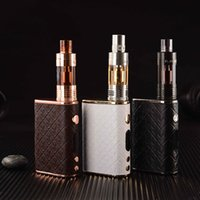 Wholesale Electronic Cigarette Real - Authentic Playboy 65W TC Mod Kit E Cigarette Kits Luxery Electronic Cigarettes LUX 65W Mod Vixen Sub Ohm Tank Atomizer Real Leather Cover