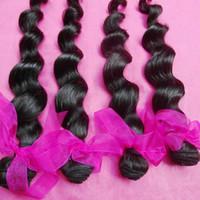 cheveux indiens vierges boucles lâches achat en gros de-Texture chaude Beah Curls 3 faisceaux Lâche Vague Profonde Lazzy Armure Indien Temple Vierge Cheveux Humains Tissage