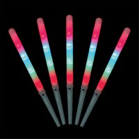 Wholesale Newest Toy Led - 2017 Newest Colorful Cotton Candy Sticks Colorful LED Light Flashing Sticks For Christmas Party Dance For children's toys