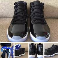 Wholesale Silver Ivory Shoes - Retro 11 Space Jam 11s bred win like 96 unc man and woman With Box basketball shoes sneakers shoes free shipping