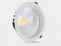 Wholesale 8pcs Bedding - 8Pcs lotLED Downlight 20W COB Led Ceiling Recessed Downlight Spot Light Super Bright Plafond Down Light Warm Cold White AC85-265V