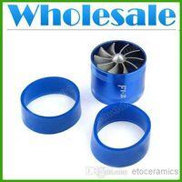 "Wholesale Fan Gas Fuel Saver - wholesale Aluminum Car Single Turbine TURBO Fuel Gas Saver Fan For 2.5""-3"" (65mm-74mm) Air Intake 55,000R Min lots100"