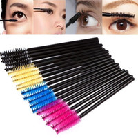 Wholesale Eyelashes Applicators - Wholesale- 50PCS Disposable Eyelash Brush Mascara Wands Applicator Makeup Cosmetic Tool