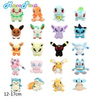 Wholesale Cyndaquil Figure - 12-17cm eevee Plush Doll Toy Mewtwo Charmander Eevee Bulbasaur Dragonite Snorlax Lucario Cyndaquil Figure Toy Gift