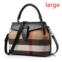 Wholesale new fashion korean handbag - Wholesale- New Korean female stereotypes sweet and stylish plaid handbag shoulder bag Messenger